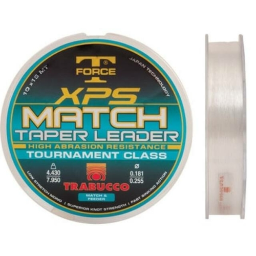 Trabucco T-Force Xps Match Taper Leader 10db 15m 0,20-0,32 távdobó előke